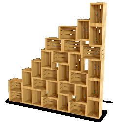 Palette Wood Wall Shelf 9
