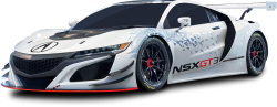 Acura NSX GT3 Racing White Car 1