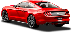 Ford Mustang Red Car Back Side 32