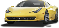 Yellow Ferrari 458 Italia Car 70
