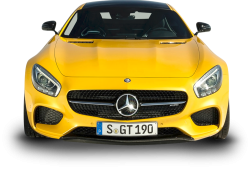 Yellow Mercedes AMG GT Solarbeam Car Front 70