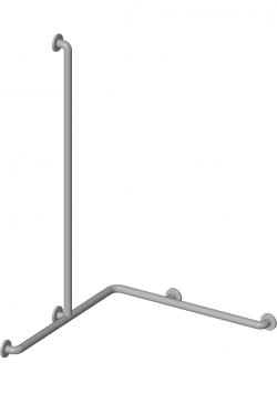 Barre d'appui coudée douche PMR