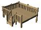 Wood Terrace3D View