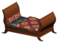 Sleigh Bed3D View