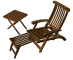 Teak Lounge Chair3D View