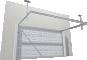 012 Porte basculante SAFIR S400 Iso avec cassettes blanchesBack