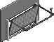 012 Porte basculante SAFIR S400 Iso avec cassettes blanchesLeft