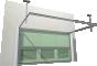 013 Porte basculante SAFIR S400 tole lisses avec vantellesArrière