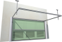 013 Porte basculante SAFIR S400 tole lisses avec vantellesBack