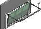 013 Porte basculante SAFIR S400 tole lisses avec vantellesGauche