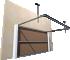 014 Porte basculante SAFIR S400 pointe diamantArrière