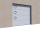 001 Porte sectionnelle ASTEC Serena micro rainuree avec hublotsVoorkant