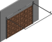 005 Porte sectionnelle ASTEC Serena avec cassettes en chene doreLeft