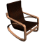 POANG Rocking Armchair3D View