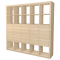 KALLAX Shelf with 10 Oak effect Accessories3D View