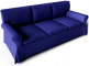 Ektorp Sofa Dark Blue3D View