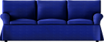 Ektorp Sofa Dark BlueFace