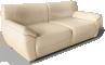 Vreta 3 Seat Sofa Mjuk Ivory3D View