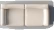 Vreta 3 Seat Sofa Mjuk IvoryOben