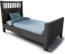 Hemnes Single Bed Frame Small3D View