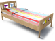 Kritter Bed Frame and Guard Rail3D View