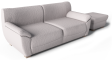 Vreta 2 Seat Sofa and Footstool3D View