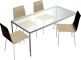 Torsby Table and 4 Chairs3D View