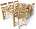 Markor Table and Harald Chairs3D View