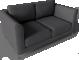 Arild 2 Seat Sofa3D View
