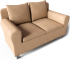 Fothult 2 Seat Sofa3D View