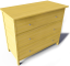 Hemnes Chest of 3 Drawers3D View