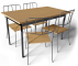 Antnas Table and 4 Chairs3D View