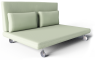Two Seat Sofa Bed Roma3D View