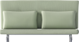 Two Seat Sofa Bed RomaFront