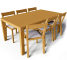 Bjursta Table and Roger Chairs3D View