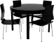 Round Bjursta Table and Chairs3D View