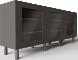 BESTA Storage Combination with Doors Black3D View