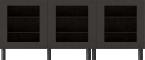 BESTA Storage Combination with Doors BlackFront
