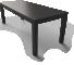 Lack Black Table3D View