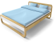 Anes Double Bed3D View