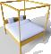 Hemnes Bed 1603D View