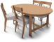 Leksvik Table and 4 Ingolf Chairs3D View