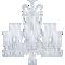 Zénith Chandelier Ceiling 24L avec HuricanesLeft