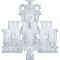 Zénith Chandelier Ceiling 24L avec HuricanesFront