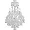 Solstice Chandelier Ceiling 24L3D View