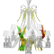 Zenith sur la Lagune Chandelier with parrots 15LRight
