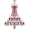 Zenith Clear and Red Chandelier 48LBack