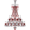 Zenith Clear and Red Chandelier 48LRight