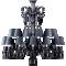 Zenith Chandelier 24L Black CrystalBack