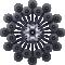 Zenith Chandelier 24L Black CrystalTop